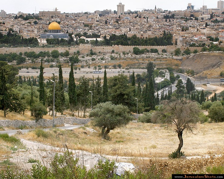 Old city view from mount of Olives