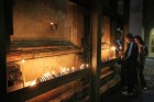 Place to light candles - side of edicule - Holy Sepulchre