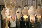 Lampadas - hanging oil lamps over the Anointing Stone - Church of the Holy Sepulcher