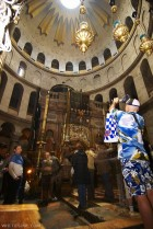 Church of the Holy Sepulcher at the winter