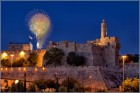 Fireworks over the Tower of David.